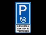 Verkeersbord België - Parkeren elektrisch opladen