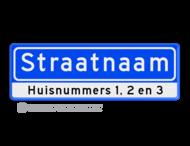 Straatnaambord 10 karakters 600x200 mm + huisnummers NEN 1772