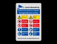 Veiligheidsbord met instructies | 5 regels / 10 symbolen