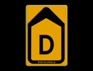 Tekstbord - T201b-d - Werk in uitvoering