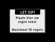 Tekstbord landscape 3:2 met banner - zwart/wit