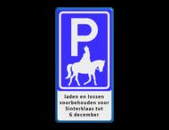 Parkeerbord Sinterklaas - tot 6 december