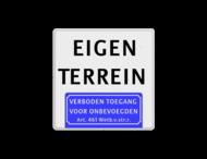 Tekstbord 400x400mm 2txt-vt461