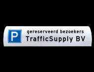 Parkeerbord voor betonrand / biggenrug 600x200mm