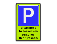 Parkeerplaats E04 + eigen tekst
