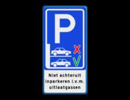 Informatiebord niet achteruit inparkeren - BT21a
