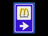 Verkeersbord BW101 - Mc Donalds