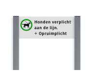 Informatiebord ALUMINIUM unit, Verboden honden uit te laten