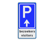 Parkeerroute BW201 met eigen tekst