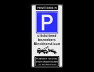 Parkeerbord 500x1000mm et-E04-2txt-wsr-vt461