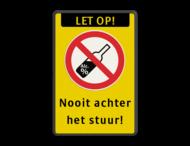Verkeersbord - Nooit alcohol achter het stuur