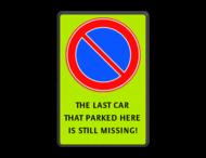 Parkeerverbod - CAR STILL MISSING