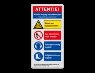 Veiligheidsbord met instructies | 5 regels / 4 symbolen