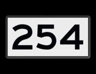 Scheepvaartbord BPR H. 1a - Kilometeraanduiding