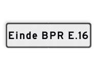 Scheepvaartbord BPR F. 3 - 1 regelige aanvullende aanduiding