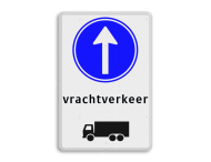 Routebord RVV D04 vrachtverkeer / vrachtauto verplichte rijrichting