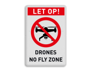 Verbodsbord - Drones no fly zone