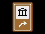 Bewegwijzering Cultuur  BW101 + pijlfiguratie