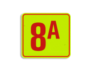 Huisnummerbord fluorescerend + reflecterend 119x109mm