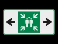 Veiligheidspictogram - Verzamelplaats - BT33b - E007 + pijl links-rechts