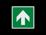 Vluchtroute bordje E005 - richting reddingsmiddel