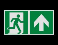 Pictogram E002 - Nooduitgang rechtdoor