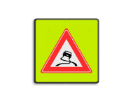 Verkeersbord RVV J20f - Slipgevaar fluor