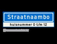 Straatnaambord KOKER - 12 karakters - 700x200 mm + huisnummer(s) - NEN1772