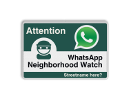 WhatsApp - Englisch - Attention - Neighborhood Watch