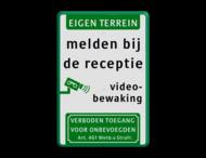 Informatiebord videobewaking - VT461 + eigen tekst