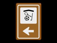Bewegwijzering Sport  BW101 + pijlfiguratie