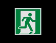Pictogram E002 - Nooduitgang rechts