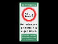 Verkeersbord C21 + 3 txt - vt