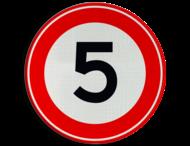 Verkeersbord RVV A01-5 - Maximum snelheid 5 km/h