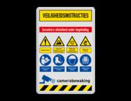 Veiligheidsbord met instructies | 7 regels / 8 symbolen