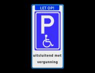 Parkeerbord Banner + E06 + tekst
