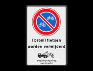 Verkeersbord E3 (brom)fietsen worden verwijderd + wegknipregeling