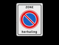 Verkeersbord RVV E01zbh - herhaling parkeerzone