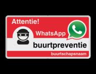 WhatsApp Attentie Buurtpreventie Informatiebord 05t - L209wa