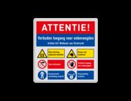 Veiligheidsbord met instructies | 4 regels / 6 symbolen