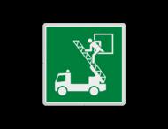 Vluchtroute bordje E017 - Vluchtraam