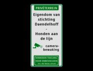 Verkeersbord Honden aan de lijn - Camera