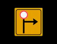 Tekstbord - Pijl Rechts/Omhoog - Werk in uitvoering