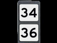 Huisnummerpaal met BORD NEN1772 - Dubbel - klasse 3