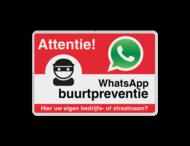 WhatsApp Attentie Buurtpreventie Informatiebord 01 - L209wa-r