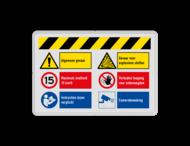 Veiligheidsbord met instructies | 1 regel / 6 symbolen