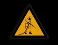 Veiligheidspictogram - Reiniging hoge druk - W037