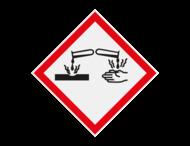 Pictogram GHS05 - Gevaar bijtende stoffen