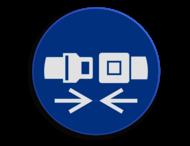 Veiligheidspictogram - Gordel dragen verplicht - M020