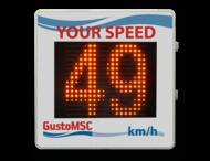 Snelheidsdisplay BASIC - LED + paneel reflecterend in huisstijl